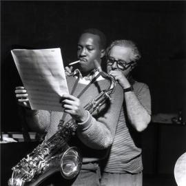 Hank Mobley with Alfred Lion
